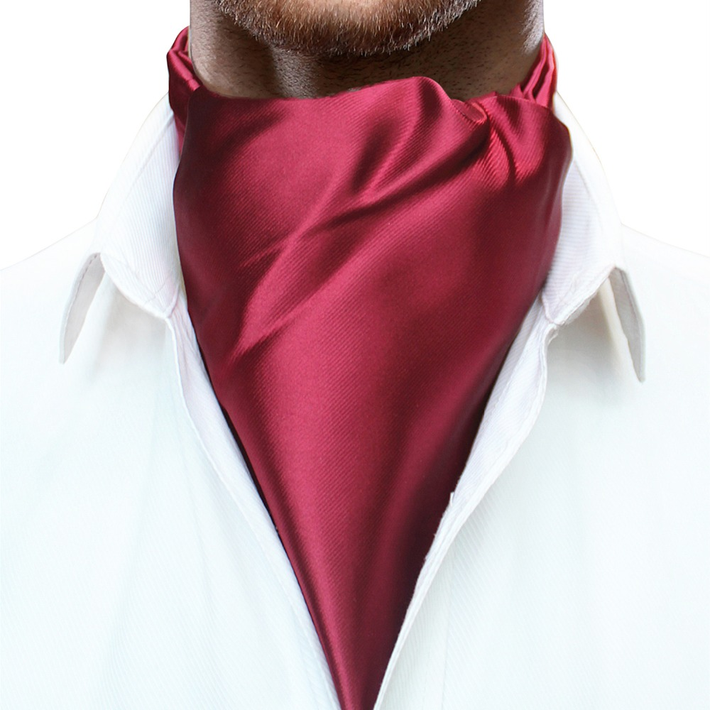 JEMYGINS Original Ins Selling High Quality Men Slik Plain Colour Soild Ascot Cravat Neck Tie Scarves Accessories