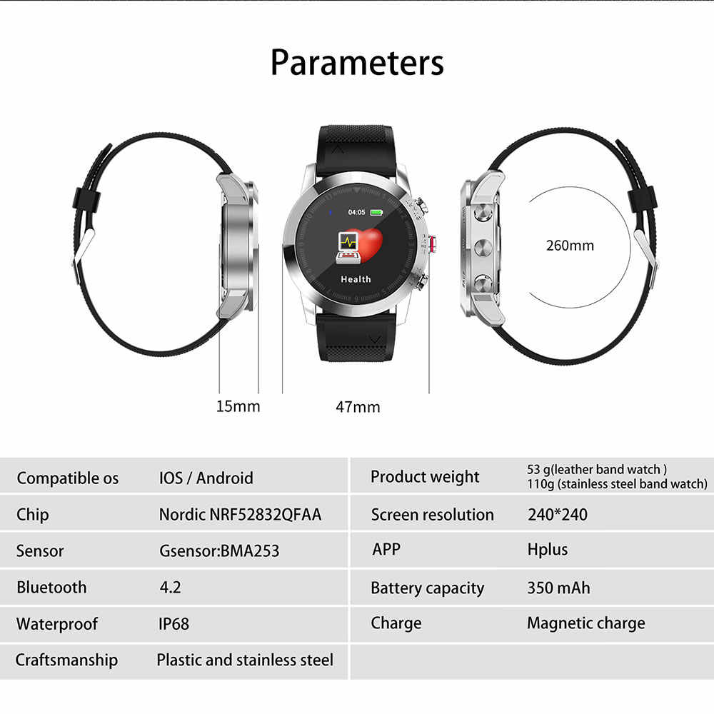 S10 ساعة ذكية رجل IP68 1.3 ''HD عرض تذكير القلب معدل البوصلة الرياضة ساعة ذكية لنظام تشغيل الأندرويد فون huawei xiaomi samsung الهاتف