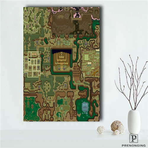Us 1 48 43 Off Custom The Legend Of Zelda Map 1 Poster Print Cloth Fabric Wall Poster Print Silk Fabric Room Decor Poster 181018 03 52 In Painting