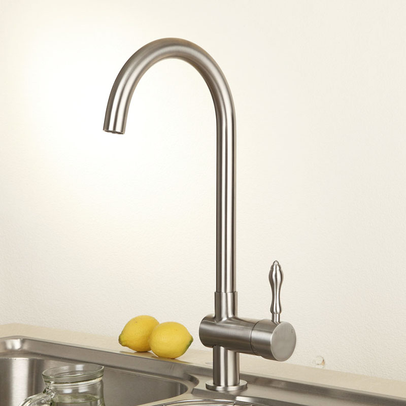 Lead Free Stainless Steel Quality Kithcen Faucet Swivel Spout Basin Vessel Sink Mixer Tap Cold Hot Water tap Wholesale & Retail good quality wholesale and retail chrome finished pull out spring kitchen faucet swivel spout vessel sink mixer tap lk 9907