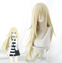 2018 New Arrival Angels of Death Ray Rachel Gardner Cosplay Wig for Women 80cm Long Straight Anime Costume Party Hair Gold