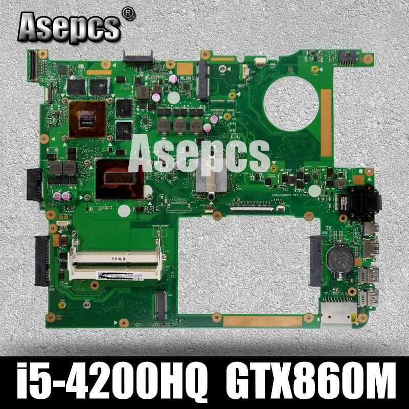 Asepcs G771JM محمول اللوحة الأم ل ASUS G771JM G771JW G771J G771 اختبار اللوحة الأصلية I5-4200HQ GTX860M