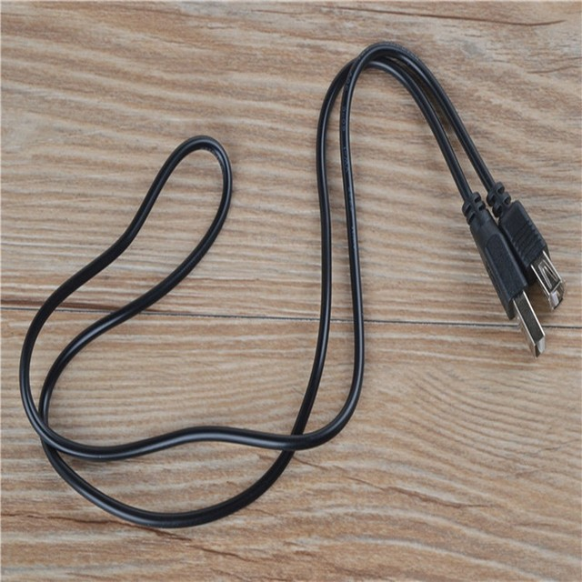 200PCS/lot USB 2.0 A Male to A Female extension cable 0.8 m black color by fedex