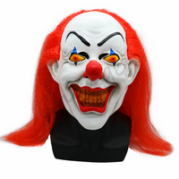 2018 Scary Red Hair Clown Mask Adult Halloween Party Props Fancy Dress