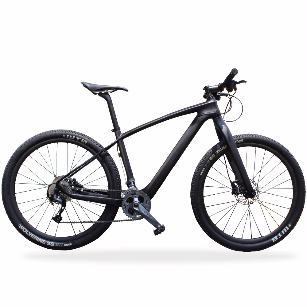 Cratic best price T700 hydraulic disc brake carbon mountain bike 29er best price 1002 100 38 41 hand hydraulic carrier polyurethane wheel with aluminum center