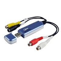 Tarjeta de Adquisición de Vídeo Tarjeta de captura De Vídeo USB EasyCAP USB Tarjeta de Adquisición de Todo El Camino para WINDOW2000/XP/Windows 7, 8