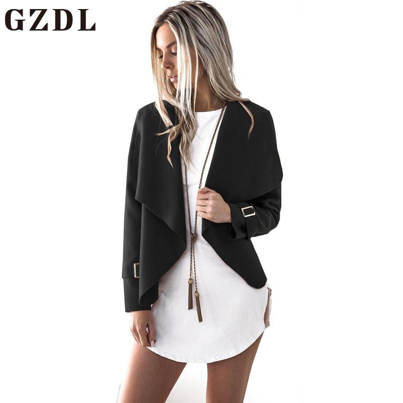 Gzdl otoño ropa de moda Outwear estilo abierto Stitch mujer ropa moda mujer suelta de manga larga cardigan Abrigos cl4447