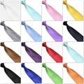HOOYI 2018 men's ties neck tie solid plaid necktie high quality 15colors