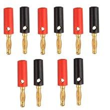 10 X Áudio Speaker Parafuso Placa de Ouro Banana Plugs Conectores 4mm, EM ESTOQUE, FRETE GRÁTIS