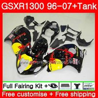 Обтекатели для SUZUKI Hayabusa GSXR1300 96 07 глянцевый черный GSXR 1300 96 97 98 99 00 01 42SH8 GSX R1300 1996 1997 1998 1999 2001