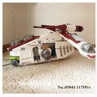 Lepin 05041 Genuine Star War Series The The Republic Gunship Set Minifigures Educational Building Blocks Bricks