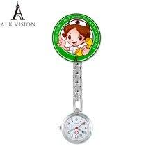Alk мультфильм дизайн часы медсестры 2018 металлический зажим