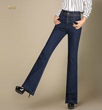 Джинсы случайный плюс размер прямые брюки для женщин хлопок высокая талия осень-весна полная длина женские брюки kpr0603