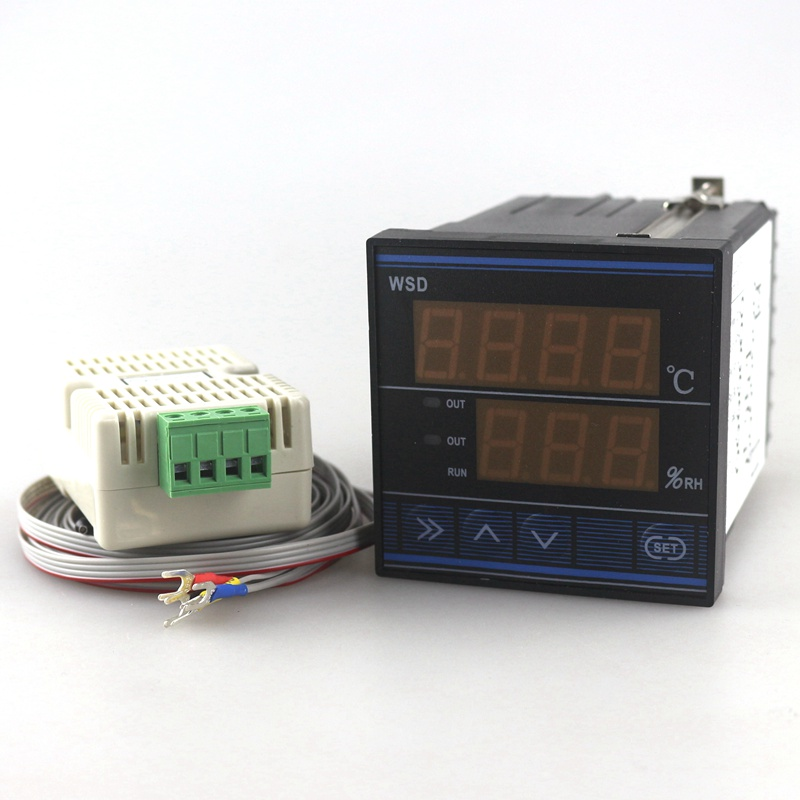 72x72mm Temperature Humidity Controller TDK0302LA Thermostat Hygrostat Control Thermometer Hygrometer with Dual Sensor
