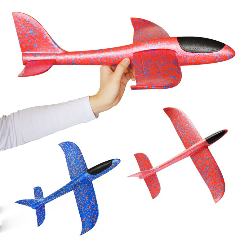 35cm Big Good Quality Hand Launch Throwing Glider Aircraft Inertial Foam Epp Airplane Toy Children Plane Model Outdoor Fun Toys