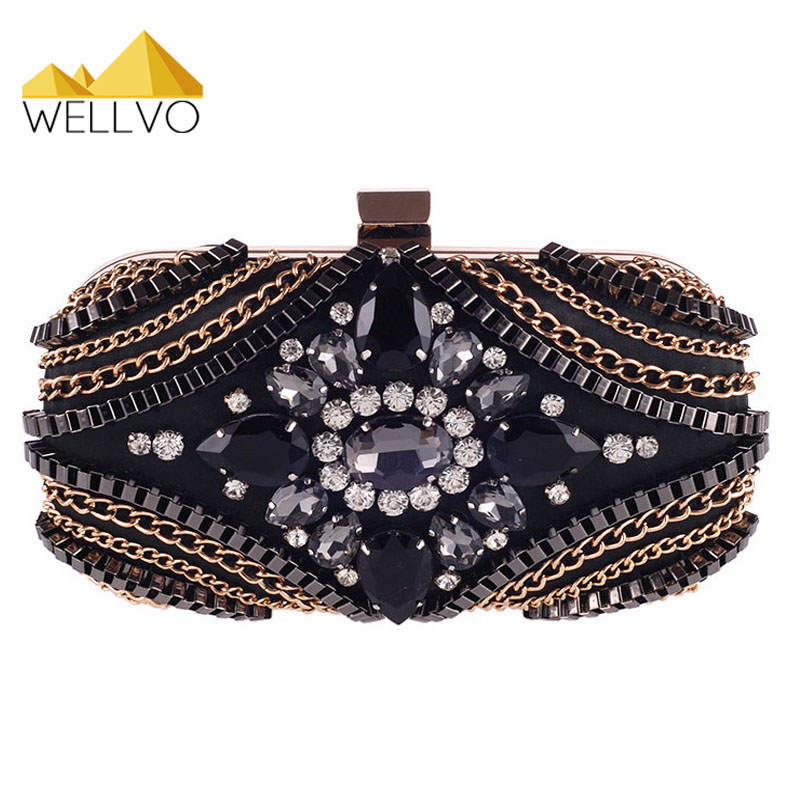 Hot Ladies Crystal Rhinestone Clutch Pearl Designer Chain Women Evening Bag Luxury Bridal Wedding Purses bolsas mujer XA1507C hot ladies crystal rhinestone clutch women pearl evening bag bridal purse dinner party chain handbag bag bolsas mujer xa1085b