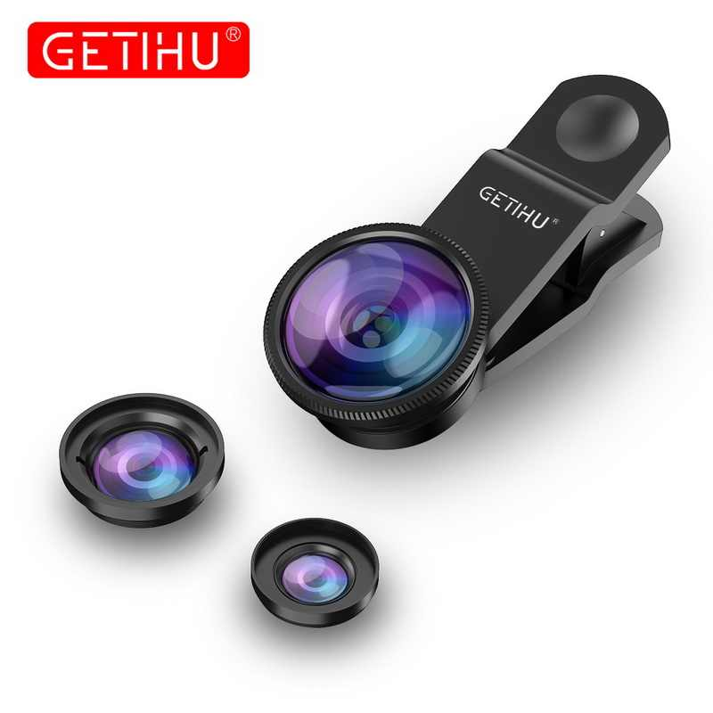 Universal Wide Angle Zoom Macro Lenses Mobile Phone Lens Fisheye Camera Fish eye For iPhone 6 7 8 X Smartphone Lentes Microscope