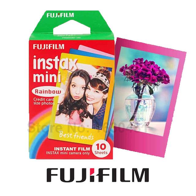 Genuine Fujifilm Rainbow 10pcs for Fujifilm Instax Mini 8 8 Plus 70 25 90 Camera SP-1 SP-2
