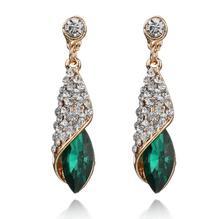 New Water Drop Temperament Rhinestone Drop Earrings Persomality Trend Women Drills Brincos Earrings Bijoux Jewelry Gift E5293 cheap Fashion Zinc Alloy TRENDY SexeMara