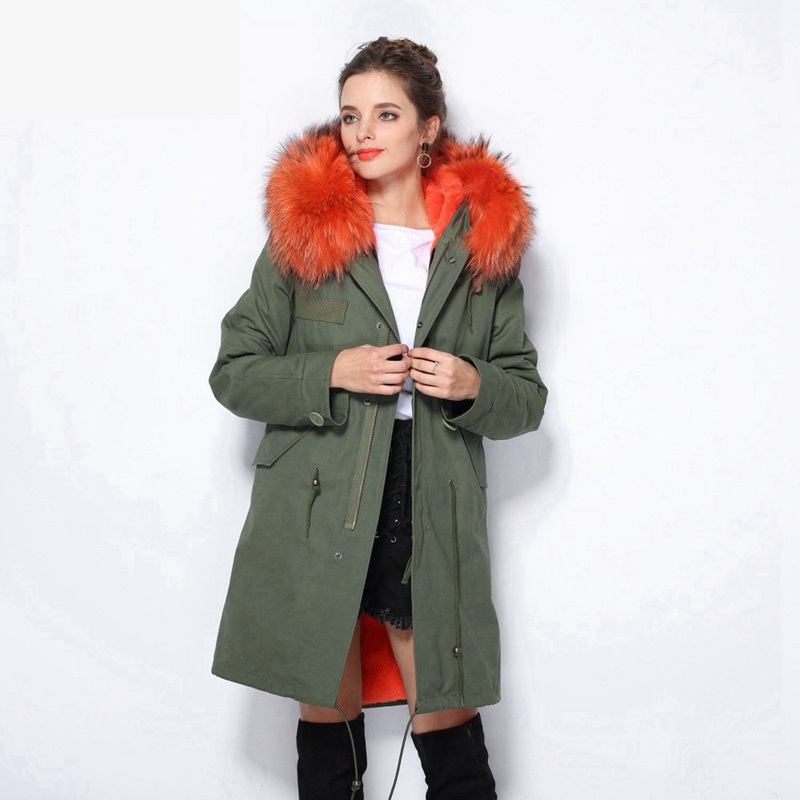 Womens Winter Denim Jacket For Women 2017 Real Raccoon Fur Collar Hooded Long Parka Fur Coat Jackets Thick Warm Parkas Plus Size 2017 autumn winter jacket coat women holes denim long jacket real large raccoon fur collar and faux fur thick warm liner