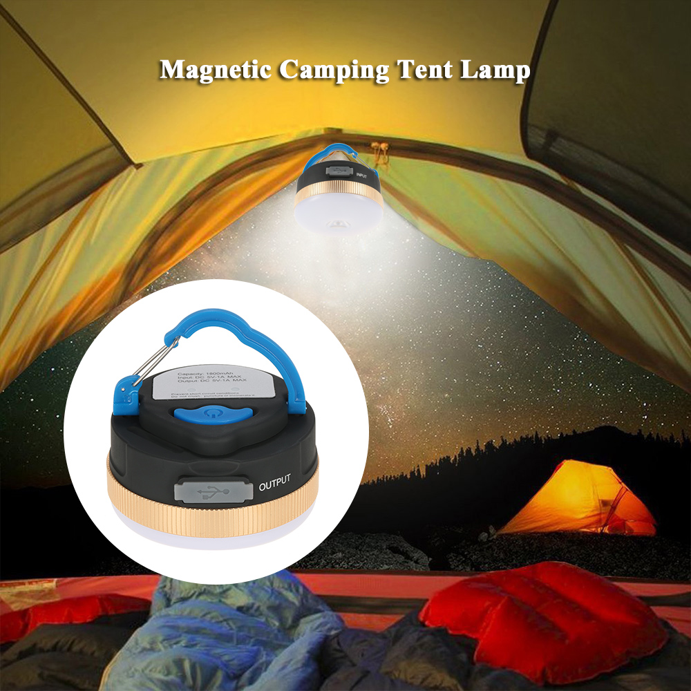 Waterproof Magnetic Lamp 300LM LED Camping Tent Lamp
