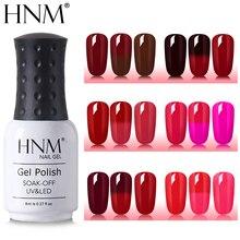 HNM 8 мл винно-красный термальный лак для ногтей Краска геллак Полупостоянный Гибридный лак изменение цвета штамповка эмаль растворяемый Гель-лак