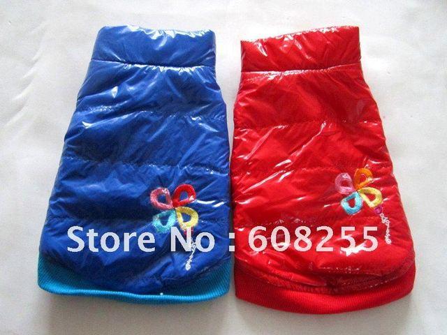 Crazy Promotion!!! Free shipping!!!wholesale blue/red pet coat , pet clothing, pet jacket, dog cotton-padded coat