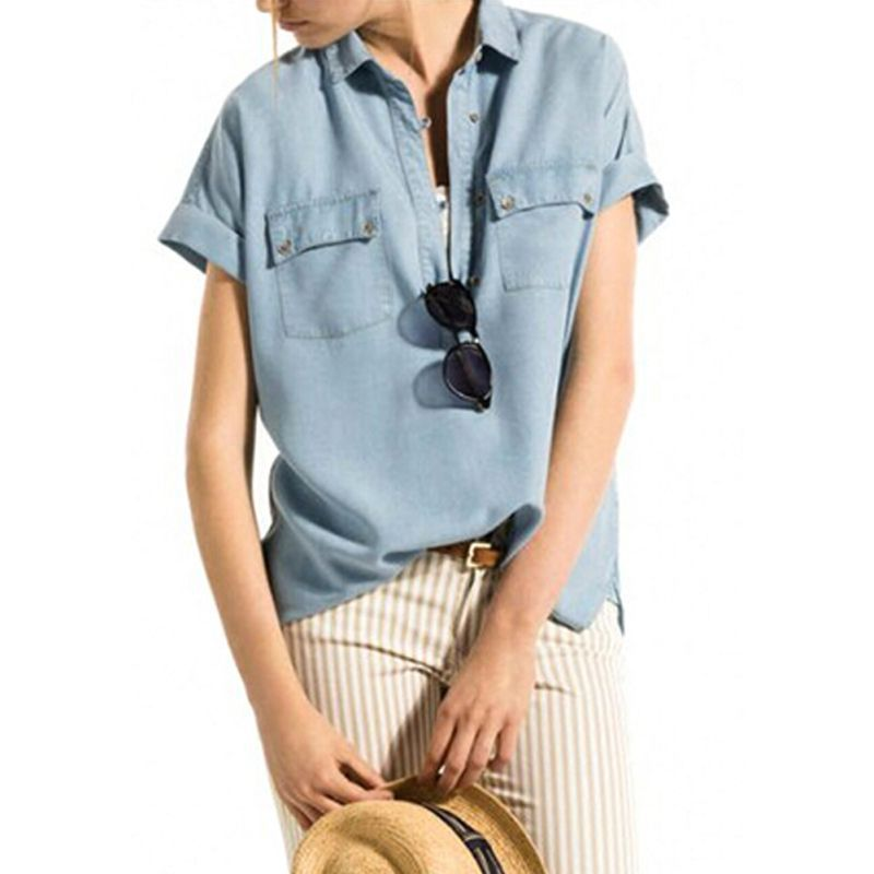 Compare Prices On Ladies Denim Shirts Online Shopping Buy