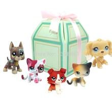 5 Pcs lot font b pet b font shop lps toys standing cat dog cocker spaniel