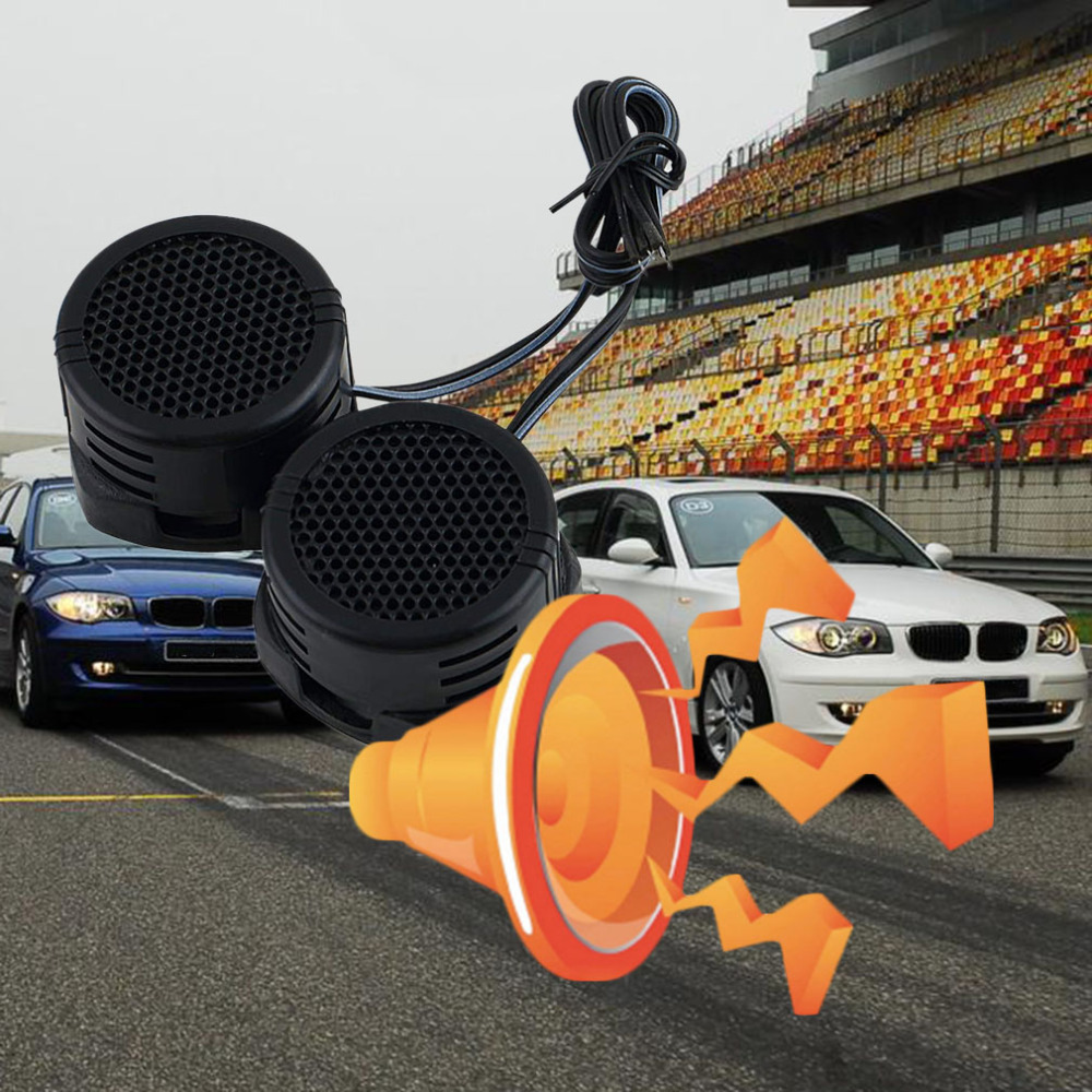 2018 Universal car speaker High Efficiency Mini Dome Tweeter Loud speaker 2x500W Super Power Audio Sound Klaxon Tone For Car