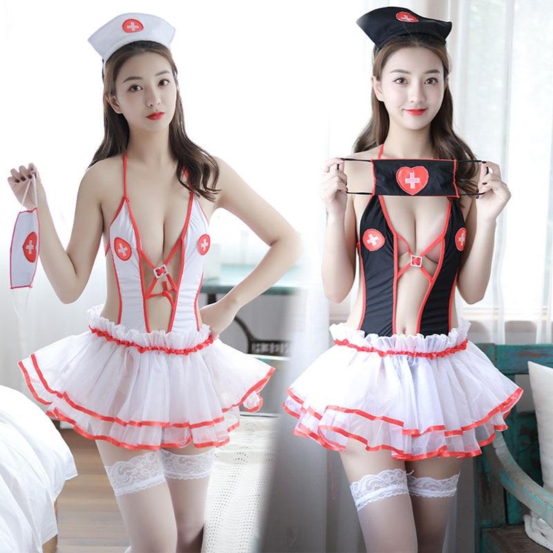 New Sexy Nurse Suit Lingerie mini dress Underwear Intimates Exotic Apparel COSPL