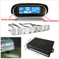 Dual-core Double LCD Display 8 Silver Parking Sensor Car Reverse Radar Alarm Kit Car LED Parking Sensor Backlight