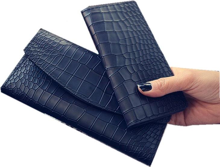 2 uppsättningar Designer Känd märke Luxury Women Wallet Purse - Plånböcker