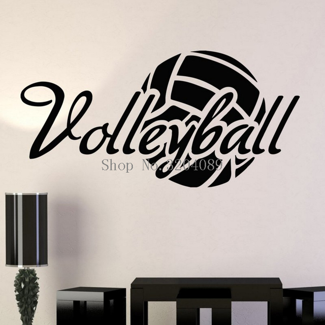 Simple Design Vinyl Wall Decals Home Decoration Living Room Bedroom Art Volleyball Ball Sport Stickers Murals Unique Gift YY48in Wall Stickers From Interesting Volleyball Bedroom Decor