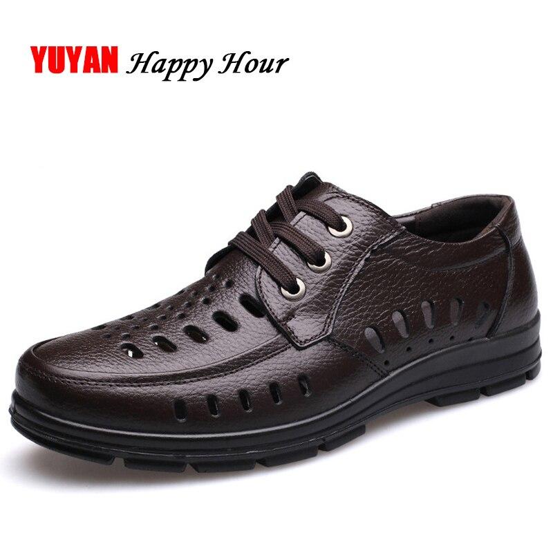 36442c65a الصيف المتسكعون الرجال جلد طبيعي ماركة الأحذية الرجالية عارضة الأحذية الذكور  مريحة لينة أحذية الأعمال k288