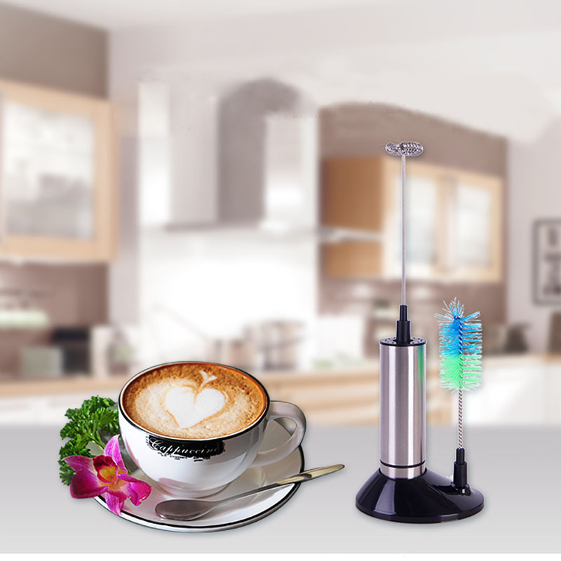 1PC Double Layer Egg Beater Mixer Coffee Milk Drink Electric Whisk Mixer Frother Foamer Gadget Cooking Tools Kitchen Accessories