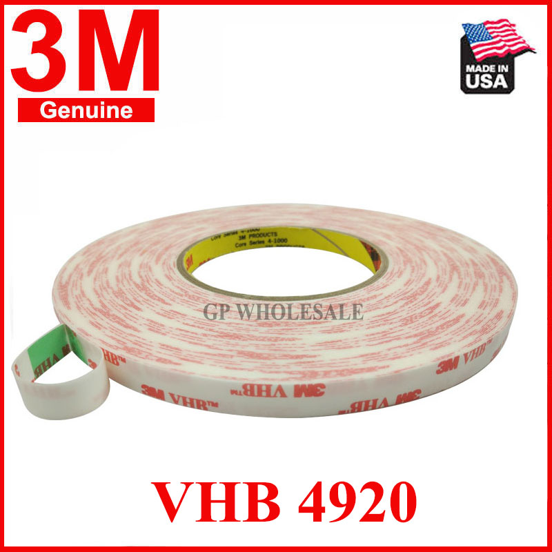 (0.4mm Thick) VHB 3M4920 Double Coated Acrylic Foam Tape Replace Rivets, Welds, Liquid Glue for Wood, Metal, Phone Screen
