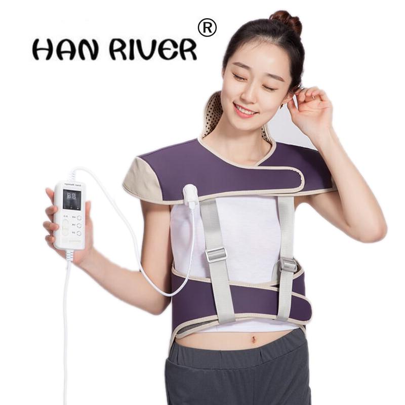 Far infrared hot compress Electric Heating Vest Back Support Shoulder Pads Vest Heated Shawl Suitable For