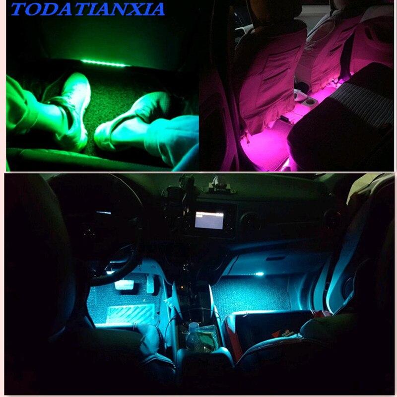Автомобильная светодиодная лента для украшения интерьера suzuki swift peugeot 207 107 mini cooper polo 6r volvo v70 renault captur opel