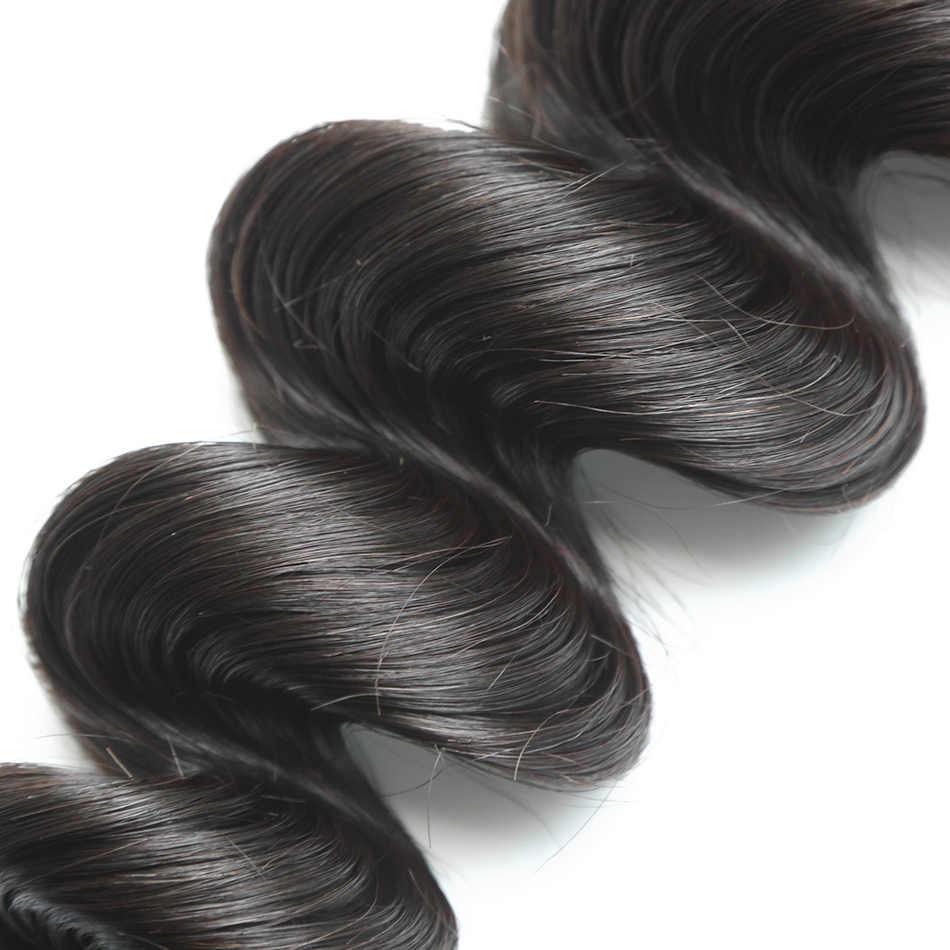 ILARIA cabello 7A onda suelta paquetes de cabello virgen peruano 2 unids/lote 100% cabello humano tejido Remy cabello trama Color Natural de calidad superior