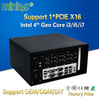 Minisys New Intel Core I3 4160 I5 4460 I7 4770 Industrial Desktop Mini PC With Fan Support Nvidia Discrete Graphics and PCIE X16