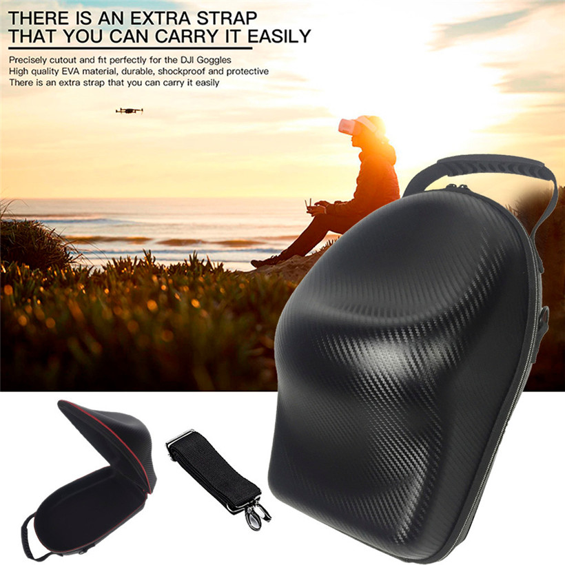 For DJI Goggles VR Glasses Case Hard Carrying Bag Hardshell Housing PU Storage Bag drop shipping 0728