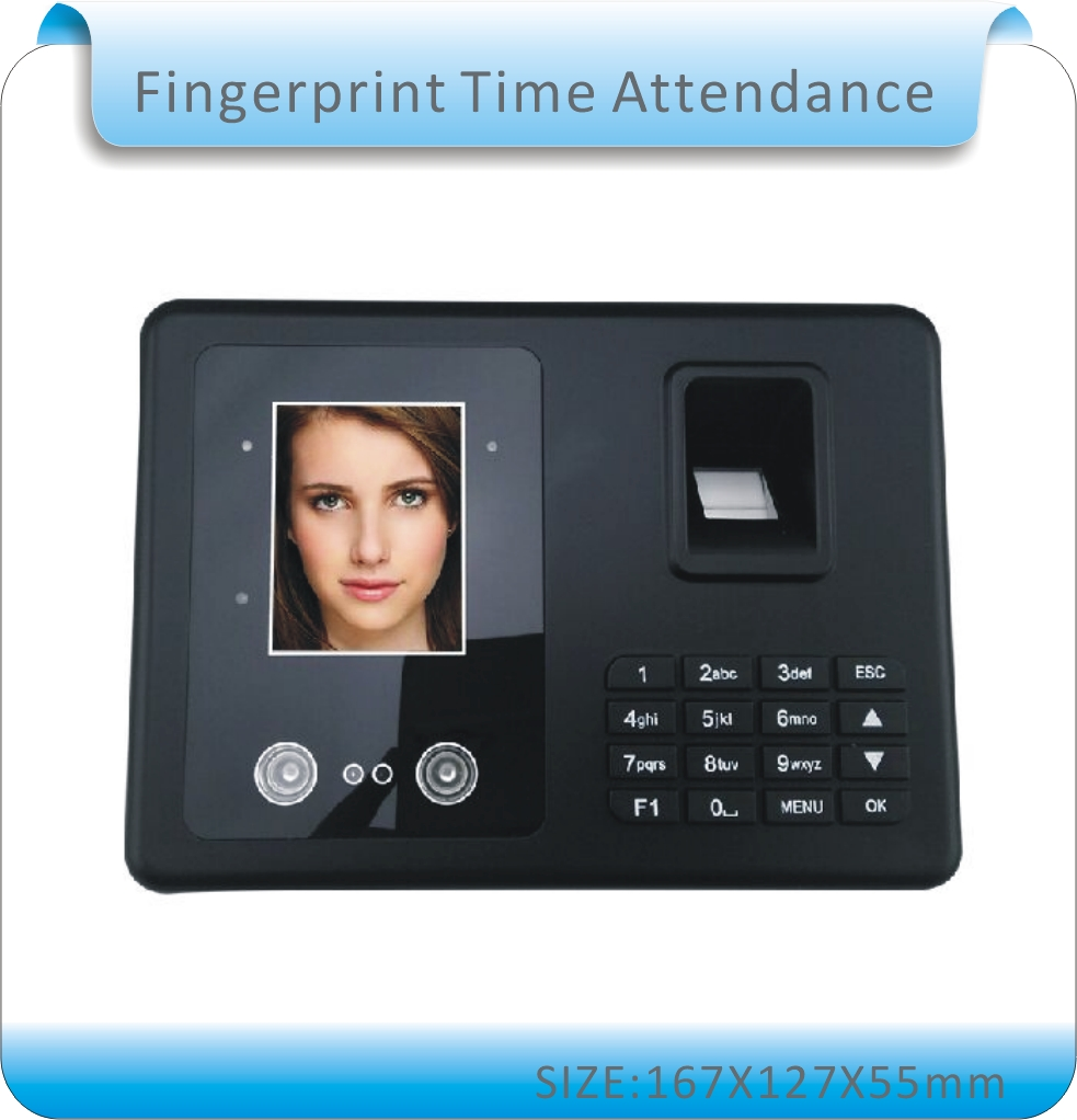 Free shipping Biometric Fingerprint & face Time Attendance Clock Recorder Employee Digital Electronic English menu& Human voice biometric face and fingerprint access controller tcp ip zk multibio700 facial time attendance and door security control system