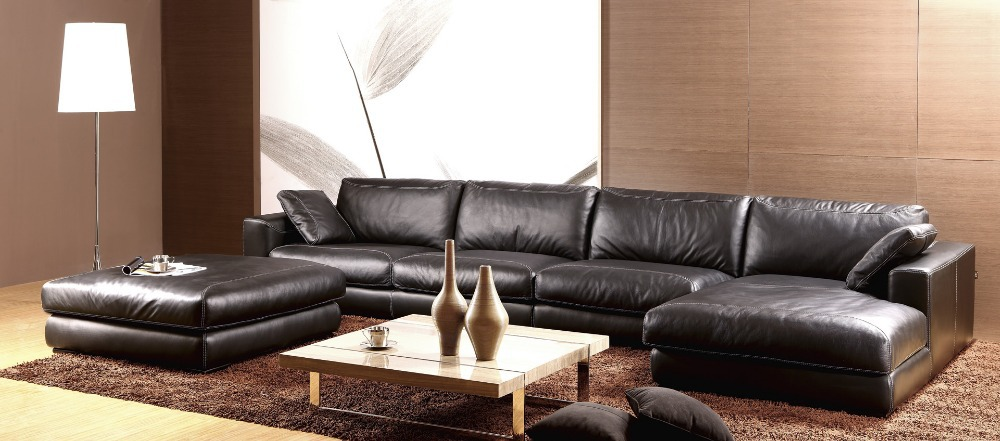 Schön Feder Sofa Hochwertigem Echtem Leder Sofa 2015 Neue Wohnzimmer Sofa  Sonder L Form Paket Modernen
