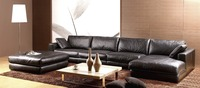 feather sofa high grade genuine leather sofa 2015 new living room sofa special L shape package modern style