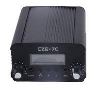 cheap  7W 76 108mhz  FM stereo PLL broadcast transmitter hot sale wholesale silver broadcast transmitter fm stereo broadcasting broadcast fm -