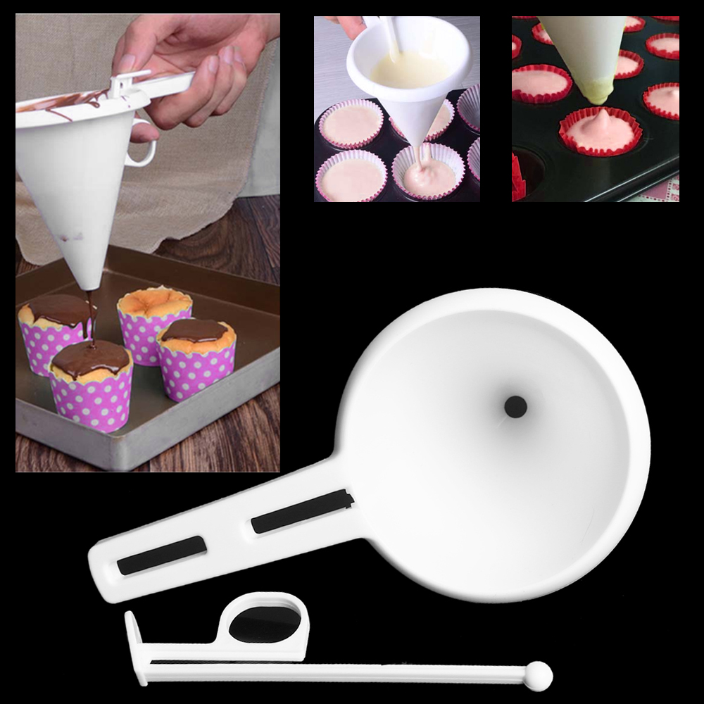 Dunmore Candy Kitchen Home: DIY Convenient Chocolate Candy Batter Funnel Mold White