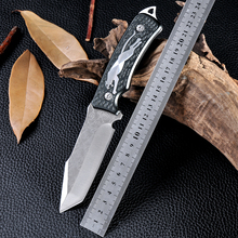 New Style Outdoor Fixed Blade Knife Survival Tactical Hunting Camping Knife D2 Navajas Zakmes Cold Steel Facas Taticas Knife