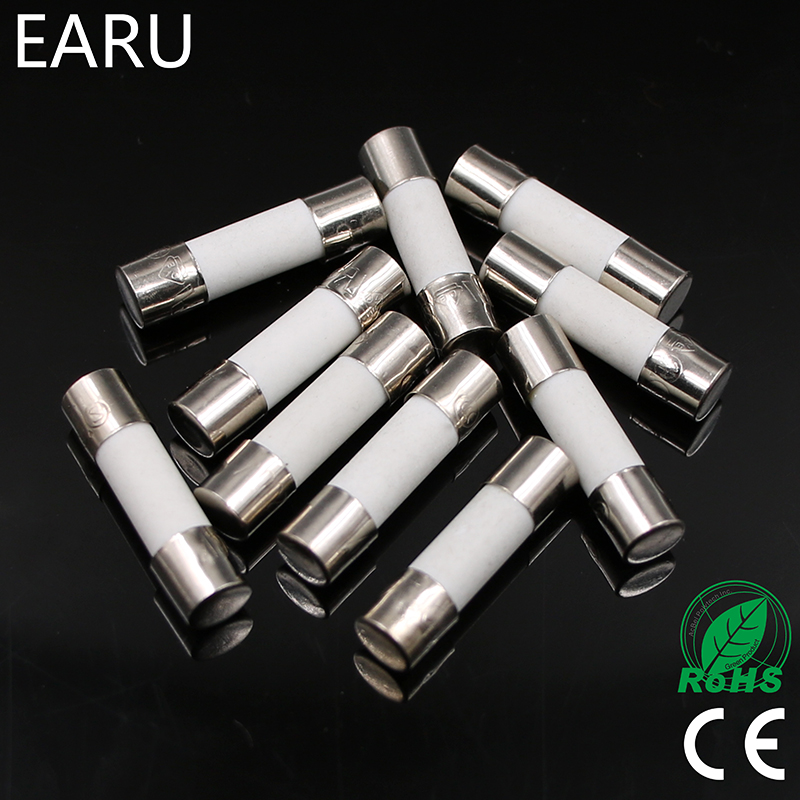 10pcs Ceramic Fuse 5mm X 20mm Slow Blow T 0 5a 1a 2a 3a 4a