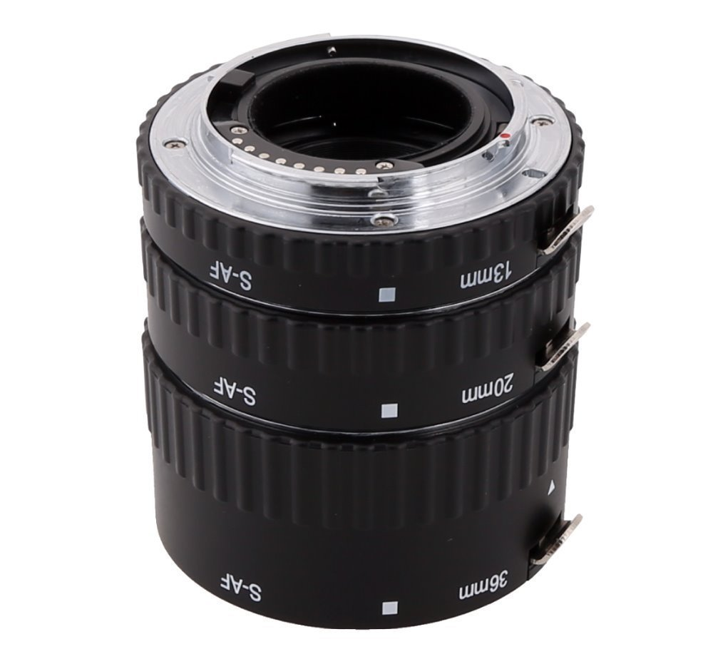 Meike S-AF-A Auto Focus Macro Extension Tube adapter ring for Sony Alpha A57 A77 A200 A300 A330 A350 A500 A550 A850 A900